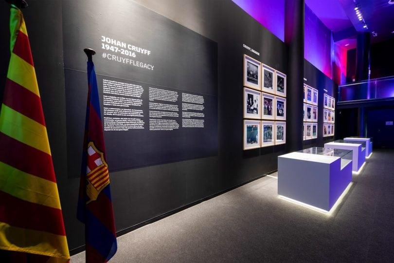 在巴塞罗那足球俱乐部博物馆的约翰·克鲁伊夫