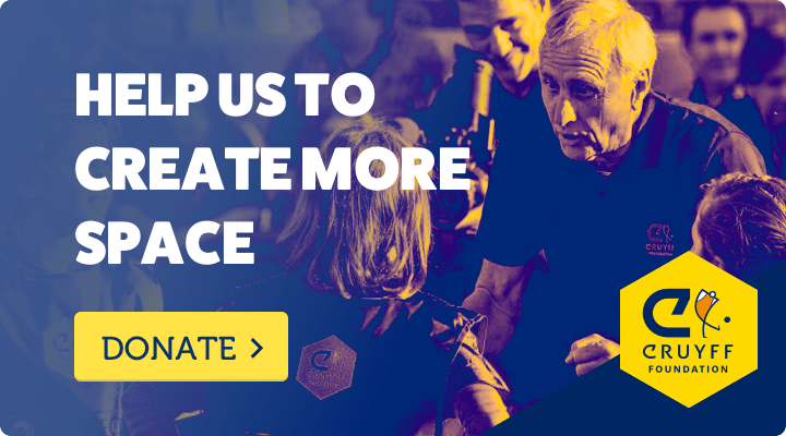 Help us to create more space - Cruyff Foundation - Donate