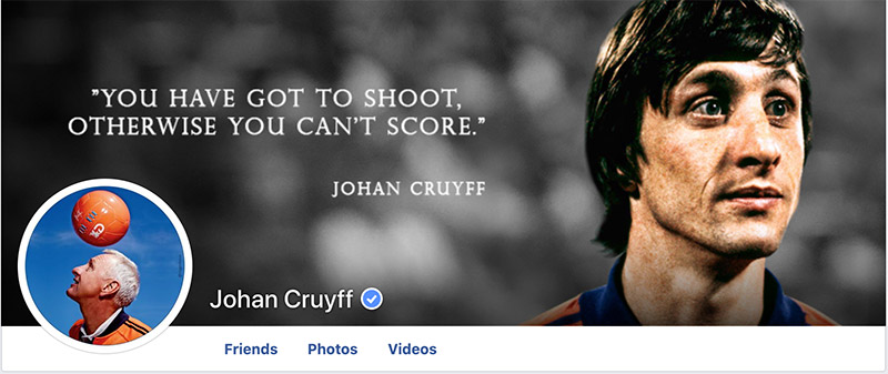 Facebook Johan Cruyff